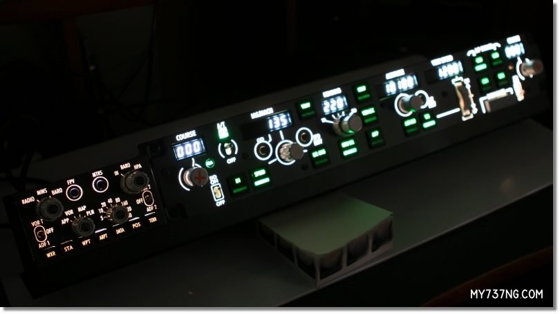Panel lighting on the CPFlight EFIS PRO and MCP PRO.