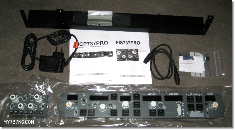 Items included in my order from CPFlight, including the EFI 737 PRO and MCP 737 PRO.