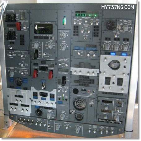 The Jetmax-737OH1 overhead panel set up for testing.