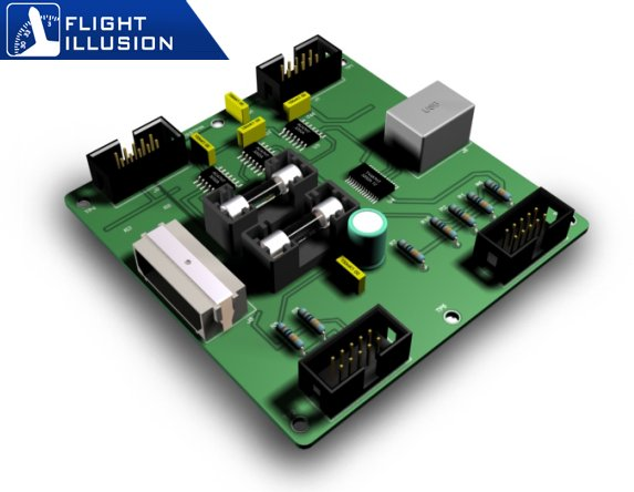 Approximate image of the Flight Illusion GSA-55 Central Interface.