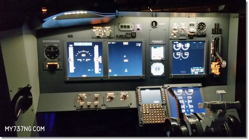 My JetMax all lit up and testing the ProSim737 avionics suite.
