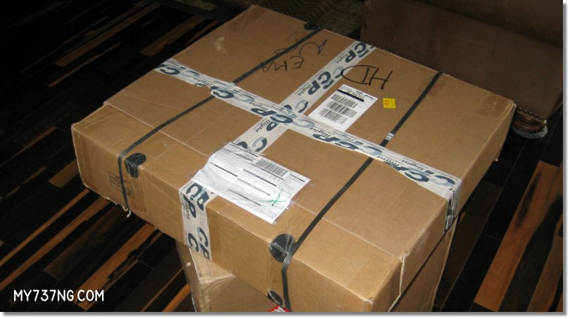 Forward overhead shipping package from CPFlight.
