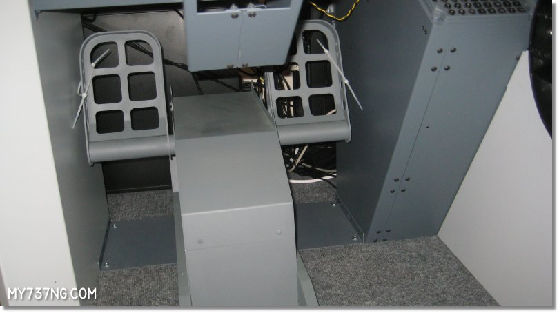 Giving the Simujabs 737 Rudder Pedals a test fitting.