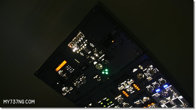 CPFlight 737 Aft Overhead Panel connected to Forward Overhead.