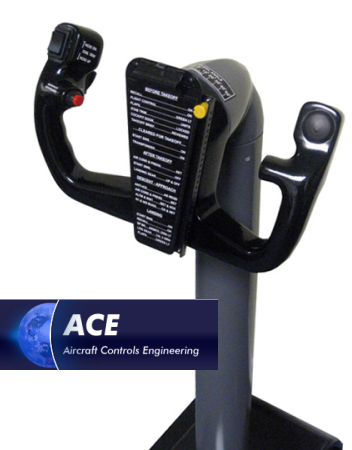 Aircraft Controls Engineering (ACE) Yoke. Photo and logo from ACE.