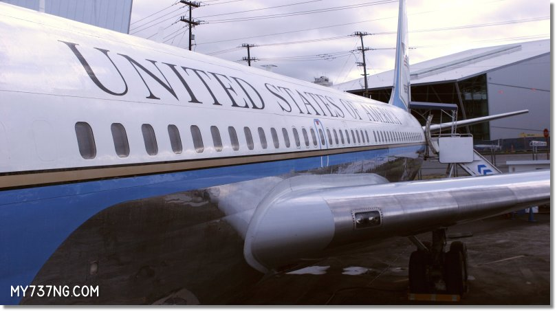The first Presidential Boeing 707.