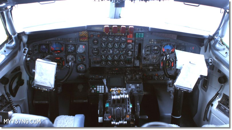 Cockpit of the first Presidential 707.