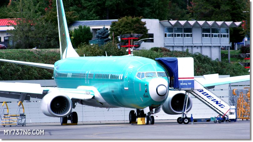 Another unpainted 737 waiting at the Renton airport.