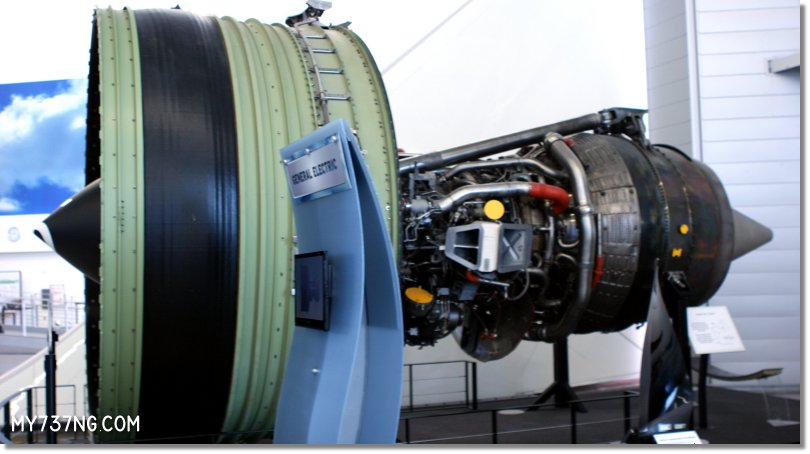 The massive GE90 turbofan engine from a Boeing 777. Over 3.4m/11ft tall, it is massive!
