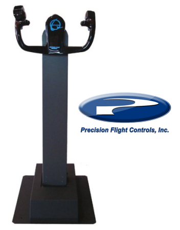 Precision Flight Controls (PFC) Jetliner Column Yoke Boeing 737. Photo and logo from PFC.