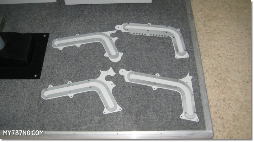 Swiss Sim Shop custom J-Rail pieces before assembly.