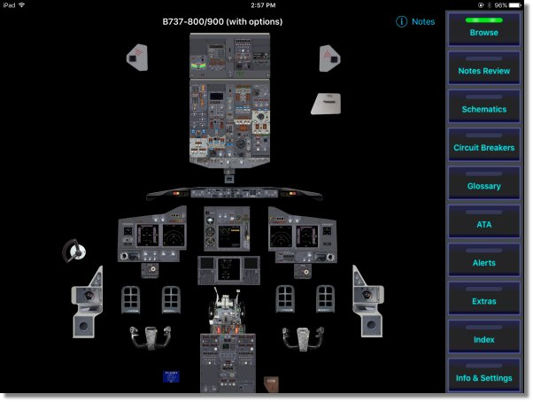 fss.aero created the B737 Cockpit Companion in digital format for the Apple iPad.