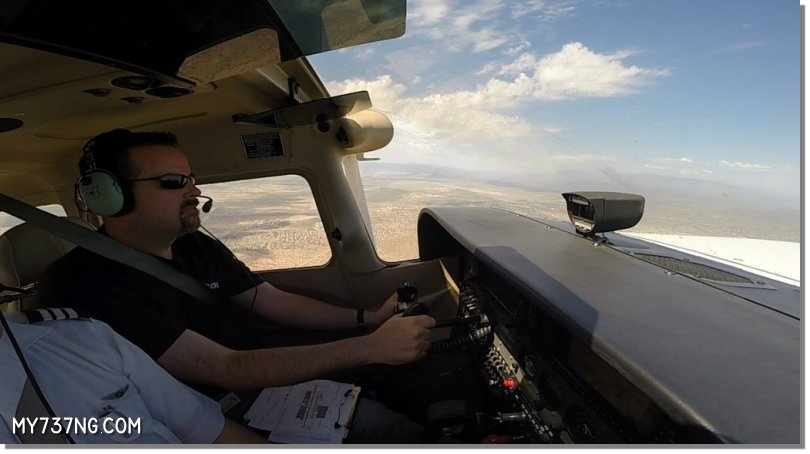 First time piloting the Cessna C172 with a Garmin G1000.