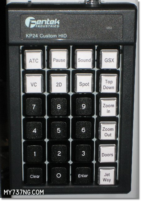 Fentek KP24 programmable keypad with my custom labels installed.