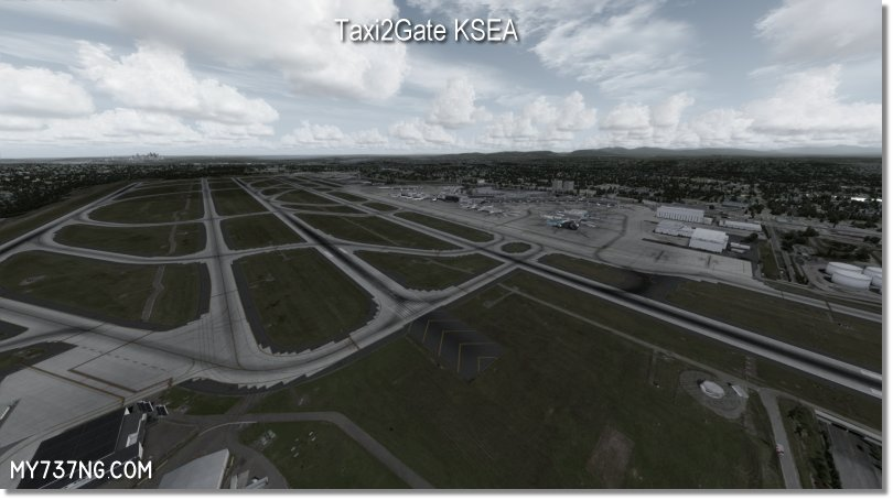 Taxi2Gate KSEA in all its glory. Everything was updated including the missing runway.