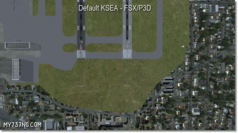 Default north end of KSEA in FSX/P3D.