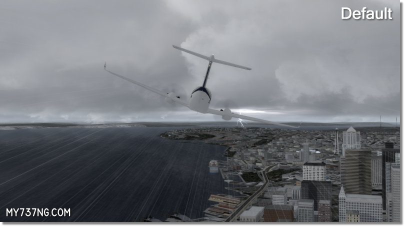 Default rain effect in P3Dv3 before FSFX's PrecipitFX.