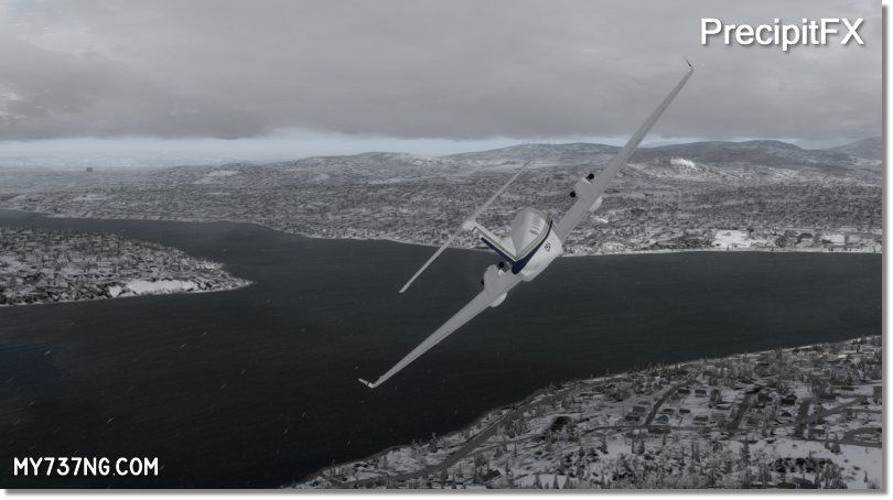 Snow effect in P3Dv3 after FSFX's PrecipitFX.