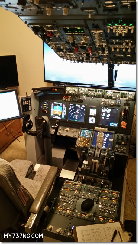 My Boeing 737 NG home cockpit as of January 2016.