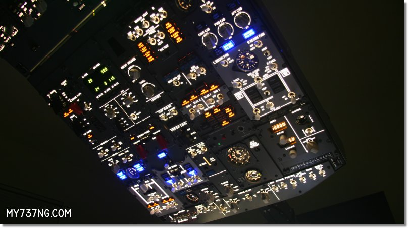 CPFlight FWD Overhead Panel stock backlighting.